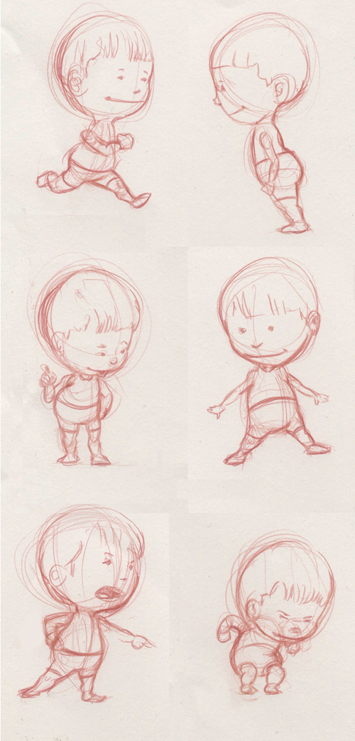 little kid doodles